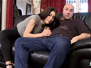 LA COCHONNE - huge-chested French stunner boned in MMF threesome