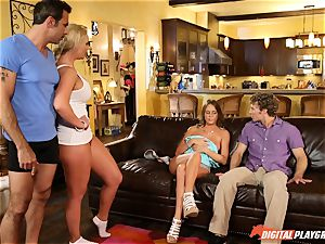 Family lovemaking lessons with stepmom and stepdad - Phoenix Marie and Alexis Adams