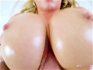 Olivia Austin With Her yam-sized udders Gives hottest orb Job