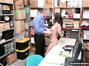 sizzling Latina Sophia Leone gets her fuckbox penetrated by officers thick penis so stiff