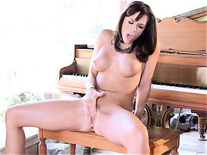 Chanel Preston do rock hard jilling off on stool