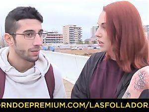 LAS FOLLADORAS - Silvia Ruby takes random dude for fuckfest