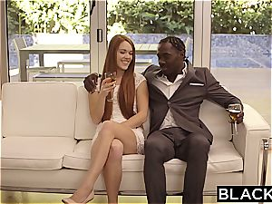 molten red-haired Kimberly Brix prepped for some black enjoying