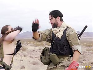 iron Gear Solid five anal porno parody with crazy brown-haired Casey Calvert