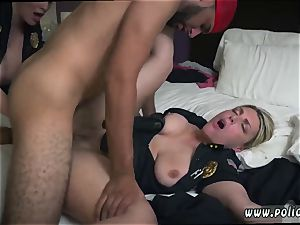 ginger-haired dark-haired hd and super-naughty hardcore Noise Complaints make dirty mega-bitch cops like