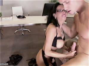 cougar man sausage sucking in the office
