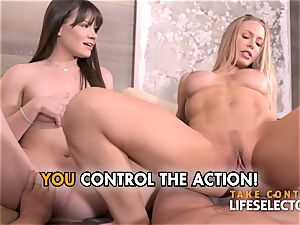 three way with Nicole Aniston and Alison Rey