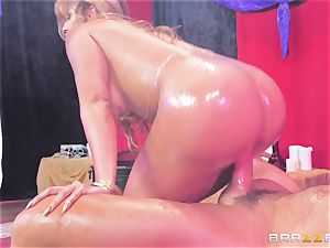 Oiley Mercedes Carrera humped thick time by enormous man meat