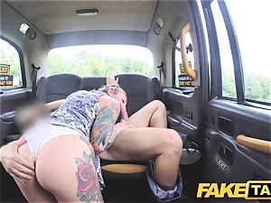 faux taxi humid white panties in jaws and porked rock-hard