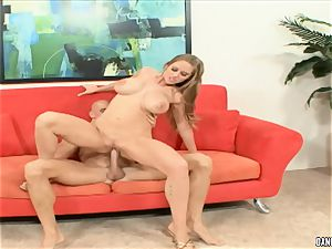 Abby rode bounces her sizzling fuckbox on this hard lollipop