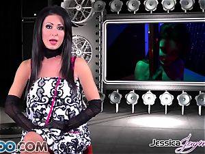 JessicaJaymes - Jessica takes two jizz-shotguns like a champ