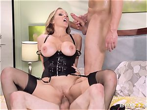 Julia Ann gets a cop in on her super-naughty 3some