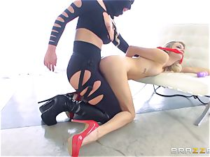 domme Phoenix Marie gets her forearms on Blake Eden