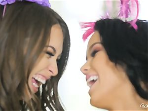 Riley Reid and Megan Rain edible girly-girl birthday girls
