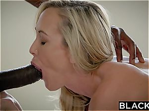 BLACKED cuckold cougar Brandi loves first thick dark-hued spunk-pump
