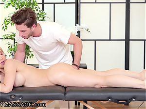 FantasyMassage Sarah Vandella massaged Calling hubby