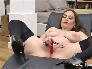 Femorg mummy with fat Naturals Solo onanism climax