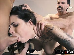 PURGATORY I let my wifey penetrate two folks in front of me