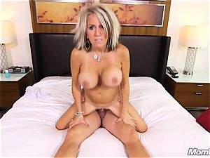 thick boobs mummy gets ass-fuck drill and facial cumshot