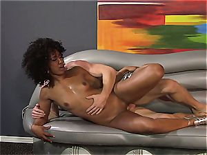Misty Stone gets her lean snatched crammed great