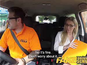 fake Driving school Georgie Lyall Off Duty hook-up