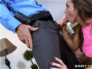 Abigail Mac gets shafted by a scorching cop in uniform