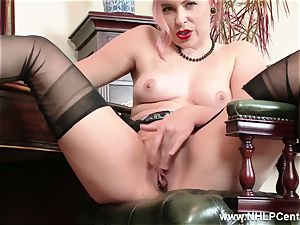 red-haired is vintage nylon fetish bi-atch at wank Off Club