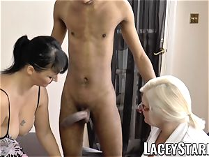 LACEYSTARR - Mature doc poked by interracial couple