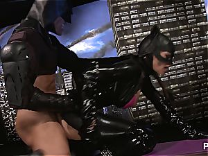jizzing all over Catwoman