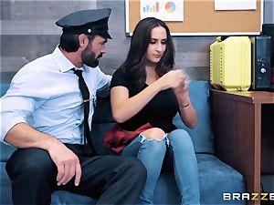 Ashley Adams takes on cop jizz-shotgun