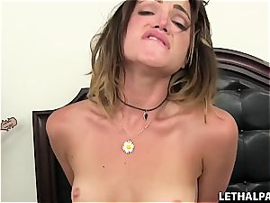 insane young stepsister needs a pink cigar