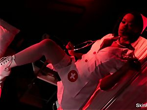 super steamy nurse skin Diamond gives a jaw-dropping tease