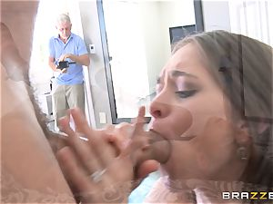 Mean wife Riley Reid takes it deep in front of her spouse