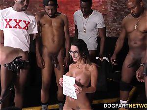 Dava Foxx bi-racial gang-bang