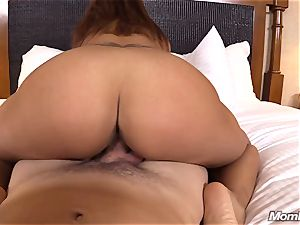 torrid Latina amateur mummy first-ever timer
