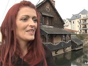 LA newbie - horny French sweetheart gets cum on titties