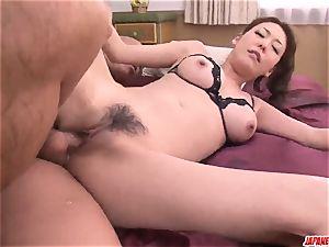 Akari Asagiri gets manmeat in the butt fuck hole during rough