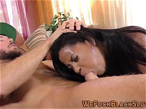 huge ass ebony whore inhales