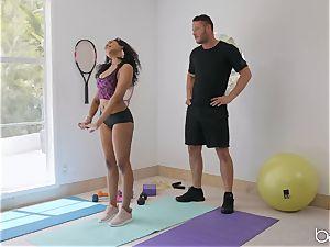 multiracial tear up with Jenna J Foxx after hot yoga