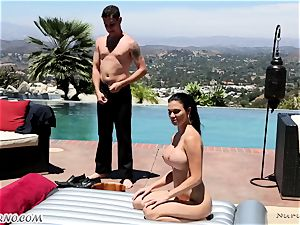 delectable big-titted massagist Jasmine Jae gets double titfucked