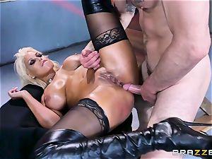 Free assfuck attractiveness with big-titted Spanish senorita Bridgette B