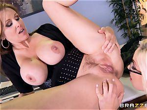 boss Julia ann plows her spectacular secretary Olivia Austin