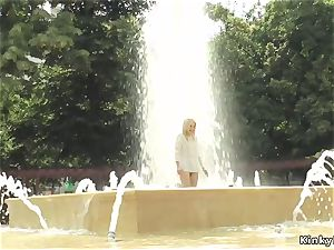 blonde made to tub in public load