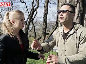 LETSDOEIT -pervert dude Tricks super hot towheaded Tourist Into bang-out