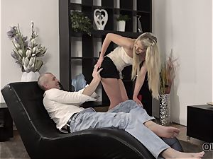 OLD4K. red-hot fuck-fest of old and young paramours concludes with good internal cumshot