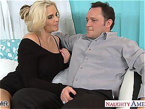 torrid wifey Phoenix Marie gets pinkish gash nailed
