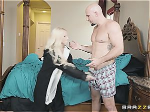 lil' kitty Kenzie scarcely fits stepbro's salami in her facehole