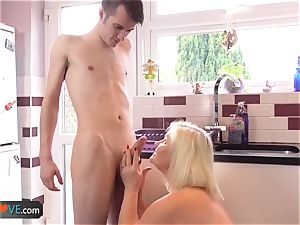 AgedLove super-cute platinum-blonde grandmother is ravaged by naughty fellow