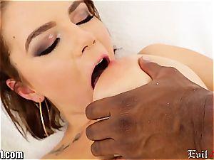 Marina Visconti bum-fucked by black dick