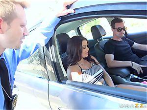Keisha Grey getting fucked via the car
